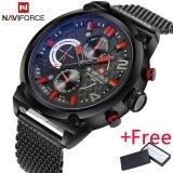 ราคา 2017 Naviforce Luxury Brand Men S Analog Quartz 24 Hour Date Watch นาฬิกาข้อมือ Es Man 3Atm Waterproof Clock Men Sport Full Steel Wrist Watch นาฬิกาข้อมือ ถูก