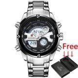 ราคา 2017 New Fashion Luxury Brand Naviforce Men Sports Watches Men S Quartz Digital Clock Male Military Waterproof Full Steel Watch ใหม่ ถูก