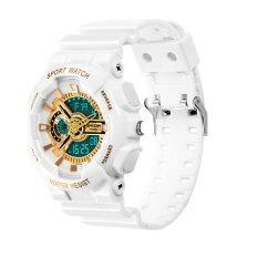 ราคา 2017 New Fashion Watch Men G Style Waterproof Sports Military Watches S Shock Digital Watch Men White And Gold Sanda ออนไลน์