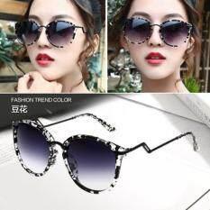 ขาย 2017 ใหม่ย้อนยุคโลหะแว่นตากันแดดผู้หญิงผู้ชายแว่นตากันแดดขนาดใหญ่กรอบแว่นตากันแดดรุ่นดาว สีม่วงดำ นานาชาติ Thailand ถูก