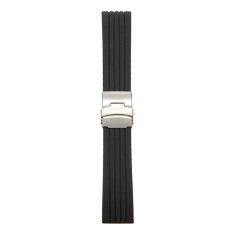 ขาย 20Mm Mens Silicone Rubber Watch Strap Band Waterproof Deployment Clasp Unbranded Generic ออนไลน์