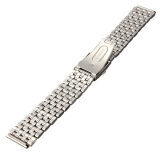 ขาย 20Mm Stainless Steel Watch Band Strap Bracelet Push Button Double Flip Lock ถูก