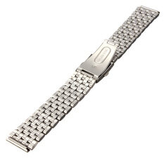 20Mm Stainless Steel Watch Band Strap Bracelet Push Button Double Flip Lock ใน Thailand