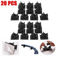 20Pcs Cable Cord Adhesive Fasteners Clips Organizer Clamp Mounting Range Wireless Intl เป็นต้นฉบับ