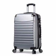 ทบทวน ที่สุด กระเป๋าเดินทาง 24 นิ้ว 8 ล้อคู่ 360 ํ Polycarbonate รุ่น Gtc02 Silver