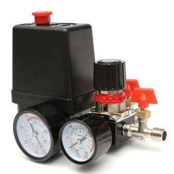240V 95-125 PSI Air Compressor Pressure Valve Switch Manifold Regulator Gauges - intl-