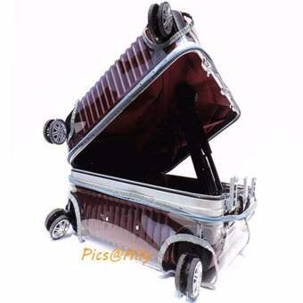 ถุงคลุมกระเป๋าเดินทางซิป หูหิ้วขวา 24' (สีเทามีซิป)  61สูง x 43กว้าง x 25 หนาcm