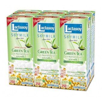 นมถั่วเหลืองยูเอชทีแลคตาซอย ผสมชาเชียว 250 มล. แพ็ค 6