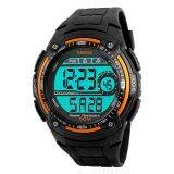ส่วนลด 2016 High Quality Skmei 1203 Fashion Sports Men S Waterproof Watch Orange Skmei ใน จีน