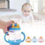 ขาย 280Ml Portable Baby Transition Training Drinking Bottle With Handles Blue Intl ใน จีน