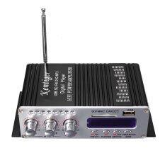 ขาย 2Ch Hi Fi Stereo Amplifier Booster Dvd Fm Usb Sd Mp3 Speaker Remote For Car Home Black Thailand ถูก