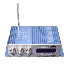 ราคา 2Ch Hi Fi Stereo Amplifier Booster Dvd Fm Usb Sd Mp3 Speaker Remote For Car Home Blue ถูก