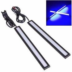 ราคา 2Pcs 14Cm Led Car Styling Daytime Running Day Light Cob Auto Drl Fog Lamp 12V Blue Intl ออนไลน์ จีน