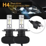ซื้อ 2Pcs Car Auto 9V 32V H4 Led High Low Beam Headlight Drl Fog Light Lamp 50W 6500K Bulbs Intl จีน