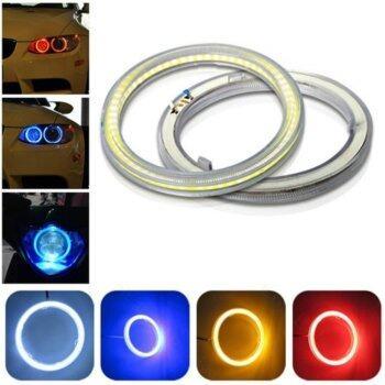 2pcs COB Angel Eye Halo Rings For Fog Lights Retrofit 60mm 45leds Blue 12V Car Motorcycle