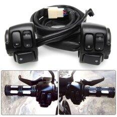 ขาย 2Pcs Handlebar Horn Turn Signal Light Switch Control Harness For Harley Davidson Intl