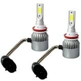 โปรโมชั่น 2Pcs High Power Led Headlight Bulbs Car Bulbs 6000K Cree Cob Led Universal Application Color H11 H9 H8 Redcolourful