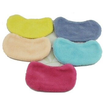 การส่งเสริม 2pcs Lovely Soft Sleeping Eye Mask Pure Color