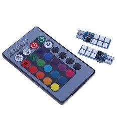 ขาย 2Pcs T10 5050 12Smd Rgb Led Multi Color Car Wedge Bulbs With Remote Control Intl Unbranded Generic เป็นต้นฉบับ