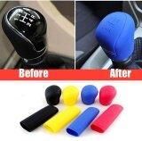 ซื้อ 2Pcs Universal Manual Car Silicone Gear Head Shift Knob Cover Gear Shift Collars Handbrake Grip Car Hand Brake Covers Case Black Intl Unbranded Generic ถูก