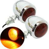 2X 12V Motorcycle Turn Signal Indicator Light Lamp For Harley Chrome Scooter Intl เป็นต้นฉบับ
