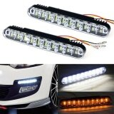 ส่วนลด สินค้า 2X 30 Led Car Daytime Running Light Drl Daylight Lamp With Turn Lights Intl