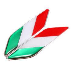 ส่วนลด 2X 3D Italian Italy Flag Sticker Badge Emblems Decal Decor For Car Truck Laptop Intl