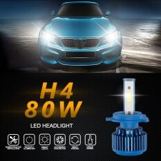 ส่วนลด 2X H4 70W 8000Lm Cree Car Cob Led Headlight Kit Beam Bulbs 6000K High Power Intl จีน