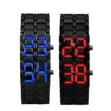 ราคา 2X Lava Style Iron Samurai Black Bracelet Led Japanese Inspired Watch Red Blue Intl ใหม่