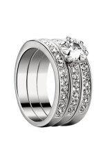 ราคา 3ใน1 มิติเซอร์โคเนีย 925 เงินเครื่องประดับแฟชั่นแหวนแต่งงานหมั้น ใน ฮ่องกง