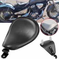 ซื้อ 3 Leather Motorcycle Sportster Chopper Bobber Custom Solo Spring Bracket Seat Intl Unbranded Generic