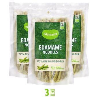 เส้นพาสต้าสำหรับมังสวิรัติ ถั่วเขียว 100% ตรา เอดามาเม นู้ดเดิ้ล 3 แพ็ค (600กรัม)