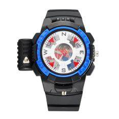 ขาย 3 Detective Conan Boys Laser Shell Bounce Voice Recording Anime Multifunctional Watches Color Black Blue ผู้ค้าส่ง