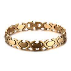 316L Stainless Steel Women S Bracelet Love Heart Gold Color Hand Chain Intl เป็นต้นฉบับ