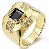 3 2Ct ใหม่สีดำ หินเพทาย 18Kt แหวนของขวัญชุบทองขนาด 8 ถึง 15 นิ้ว Gq288 นานาชาติ ใหม่ล่าสุด