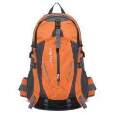 ราคา 35ลิตรกระเป๋าเป้กลางแจ้งสำหรับเดินป่า และการตั้งแคมป์ ส้ม ใหม่