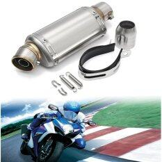ขาย 38 51Mm Stainless Steel Universal Motorcycle Exhaust Muffler Pipe W Silencer Stainless Steel S Intl ออนไลน์ จีน