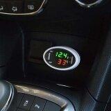 3In1 Led Car Voltmeter Temperature Digital Indicator Usb Battery Monitor Charger Intl จีน