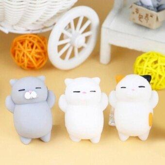 3 ชิ้นร้อนของเล่นญี่ปุ่น MINI Cat Mochi Squishy Squeeze Cat Kawaii Healing Toy เก็บ Fun Joke ของขวัญโฟกัส