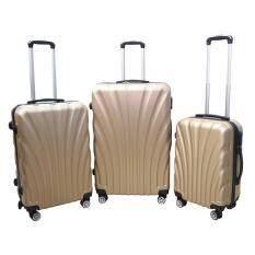 ขาย ซื้อ กระเป๋าเดินทางล้อลาก 4ล้อ ดีไซน์เรียบหรู ชุดใหญ่ 3 ใบ 3ขนาด พ่อแม่ลูก สีทอง กรุงเทพมหานคร