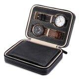 ขาย 4 Grids Travel Watch Storage Case Pu Leather Zipper Wristwatch Box Organizer Intl ถูก ใน จีน