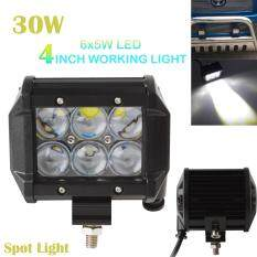 ส่วนลด 4 Inch 30W 2550Lm Car Led Work Spot Light Bar 4Wd Atv Off Road Suv Driving Lamp จีน