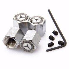 ซื้อ 4 Pcs Metal Car Accessories Wheel Tyre Tire Valve Stem Caps For W210 W212 W205Tcla Gla Wheat Logo Silver Intl ใหม่ล่าสุด