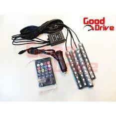 ขาย ไฟส่องเท้า 4 จุด ควมคุมด้วย Remote กระพิบตามเสียงดนตรี เปลี่ยนสีได้ 8 สี Good Drive ออนไลน์