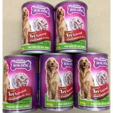 ราคา อาหารสุนัข ทำจากไก่ในเยลลี่400กรัม5กระป๋อง ทุกช่วงวัย Bokdok ออนไลน์