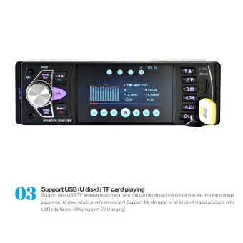 4022D 4.1 Inch Car MP5 Player Viehcle FM Radios Card Radio Player Disk Reversing Video Camera