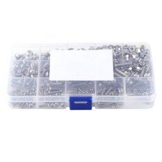 ซื้อ 440Pcs M3 M4 M5 Stainless Steel Ss304 Hex Socket Button Head Bolts Screws And Nuts Assortment Intl ออนไลน์ จีน