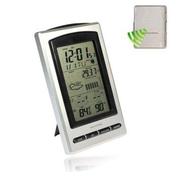 4.9 LCD สภาพอากาศแบบไร้สายกลางแจ้งอุณหภูมิ ความชื้น