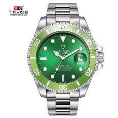 ราคา นาฬิกา 2018 สปอร์ต เท่ ยุค4G กันน้ำ กันรอยGreen Men Watches Tevise Automatic Mechanical Watch Luxury Brand Waterproof Luminous เป็นต้นฉบับ Tevise
