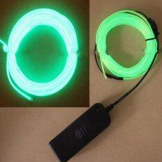 ขาย 4M El Wire Rope Tube Neon Light Glow Controller Car Party Decor Light Green Intl Possbay